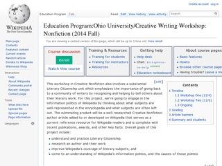 Literary Citizenship Project Screenshot