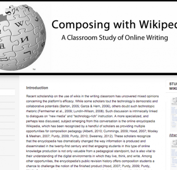 Composing with Wikipedia: A Classroom Study of Online Writing