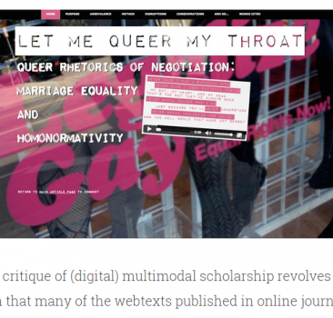 "Webtext-of-the-Month Review: Hillery Glasby's ""Let Me Queer My Throat"""