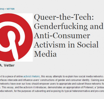 Queer the Tech: Genderbending and Anti-Consumer Activism in Social Media