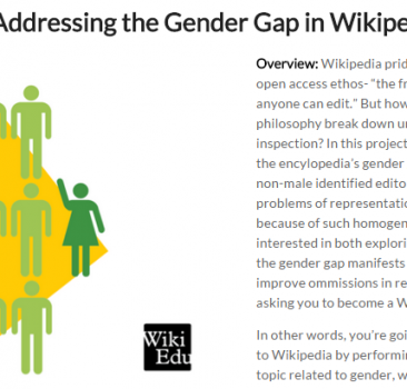 Addressing the Gender Gap in Wikipedia (Assignment & Reflection)